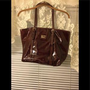 Dooney and Bourke patent leather satchel